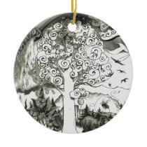 A-MIGHTY-TREE-Page 2 Ceramic Ornament