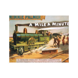 A-Mile-a-MinuteVintage Railroad Train Canvas Print