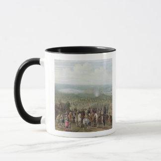 A Military Encampment with Militia on Horses, Troo Mug