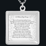"""A Military Wifes prayer Silver Plated Necklace<br><div class=""""desc"""">a military wifes prayer</div>"""