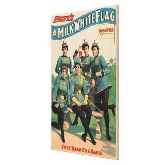"""""""A Milk White Flag"""" Woman's Marching Band Gallery Wrapped Canvas"""