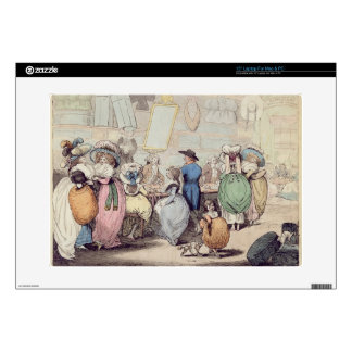 A Milliner's Shop, published in 1787 (hand coloure Decal For Laptop