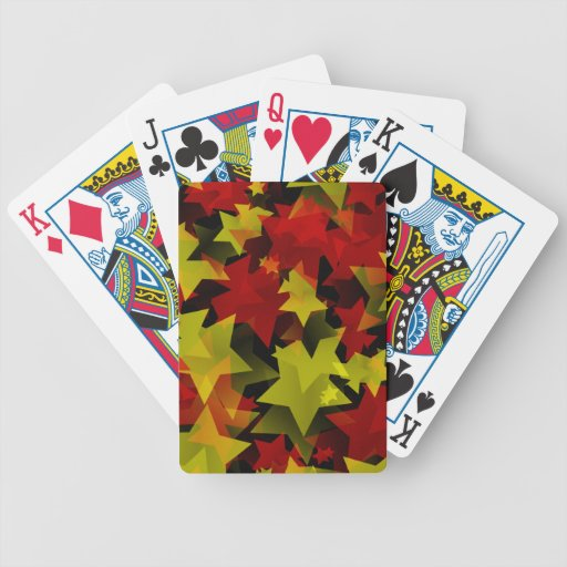 A million Christmas stars Bicycle Playing Cards