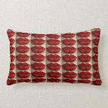 """""""A MILLION RUBY RED LIP KISSES"""" TOSS PILLOW"""