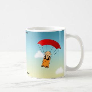 A mind is like a parachute... classic white coffee mug