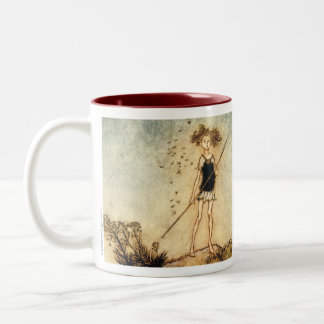 "A Mindsummer Night's Dream ""One aloof stand sentin Two-Tone Coffee Mug"
