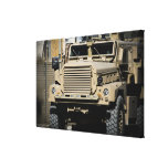 A mine-resistant, ambush-protected vehicle gallery wrap canvas