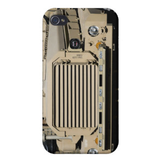 A mine-resistant, ambush-protected vehicle cover for iPhone 4