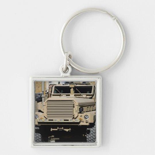A mine-resistant, ambush-protected vehicle keychain