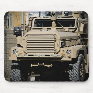 A mine-resistant, ambush-protected vehicle mouse pad