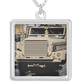 A mine-resistant, ambush-protected vehicle custom jewelry