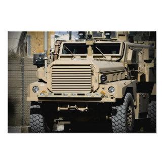 A mine-resistant, ambush-protected vehicle photo print