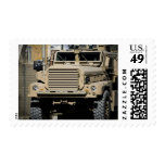 A mine-resistant, ambush-protected vehicle postage stamps