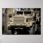 A mine-resistant, ambush-protected vehicle print
