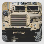 A mine-resistant, ambush-protected vehicle sticker