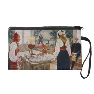 A Miner's Cottage, from a commercially printed por Wristlet Purse