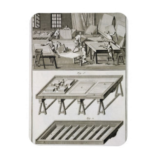 A mirror maker's workshop and tools, from the 'Enc Rectangular Photo Magnet