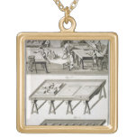A mirror maker's workshop and tools, from the 'Enc Square Pendant Necklace