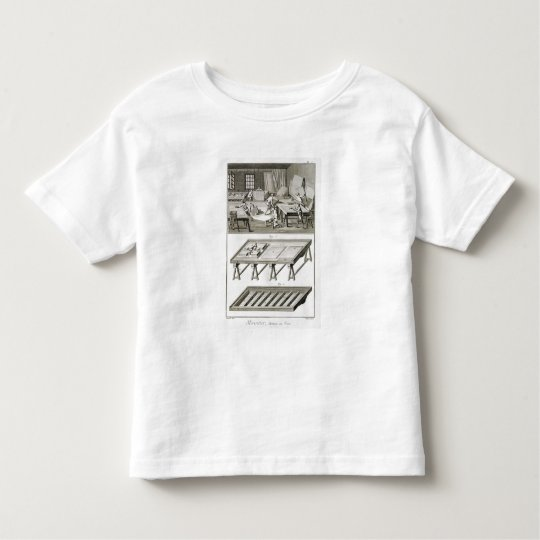 A mirror maker's workshop and tools, from the 'Enc Toddler T-shirt