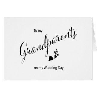 A mis abuelos en mi tarjeta del día de boda