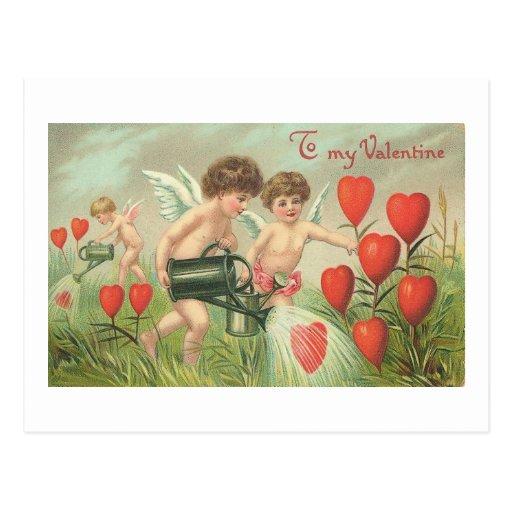 A mis querubes de la tarjeta del día de San Valent Postal