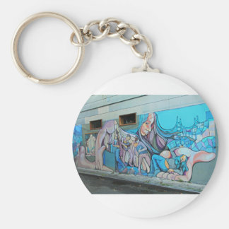 A Mission District Mural Keychain