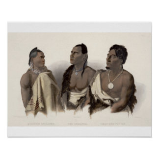 A Missouri Indian, an Oto Indian and the Chief of Print