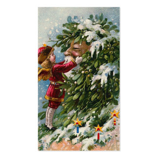 """""""A Mistletoe Kiss for Santa"""" Double-Sided Standard Business Cards (Pack Of 100)"""