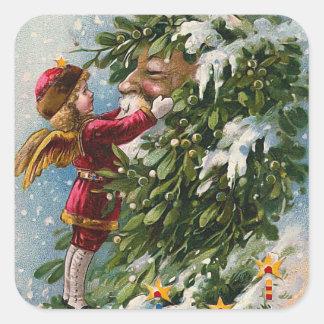"""A Mistletoe Kiss for Santa"" Sticker"