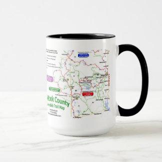 A Mistook County trail map mug