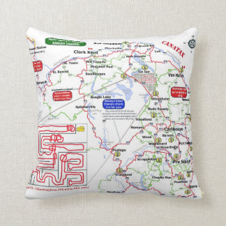 A Mistook County trail map pillow