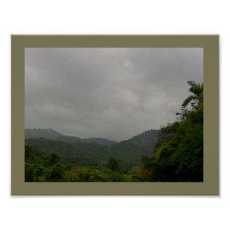 A Misty Cool Morning in the Hills Poster