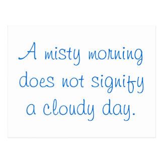 A Misty Morning... Postcard