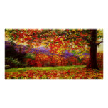 A Misty New England Autumn Posters