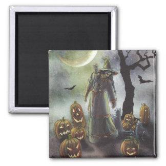 A misty walk at Halloween. Magnet