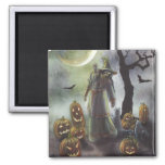 A misty walk at Halloween. Magnets