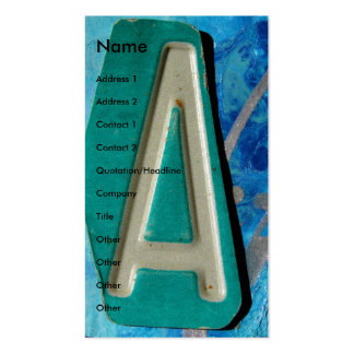 """A""  Mixed Media Business Card"