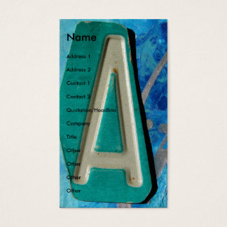 """""""A""""  Mixed Media Business Card"""