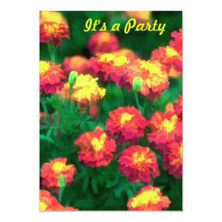 A Mob of Marigolds 5x7 Paper Invitation Card