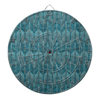 A Modern Abstract Colorful Blue Wave Pattern Dart Board