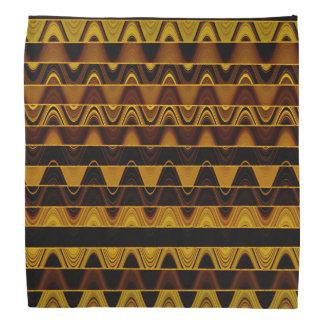 A Modern Abstract Colorful Gold Wave Pattern Bandana