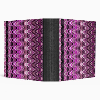 A Modern Abstract Colorful Pink Wave Pattern Binder