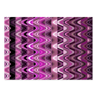 A Modern Abstract Colorful Pink Wave Pattern Large Business Cards (Pack Of 100)