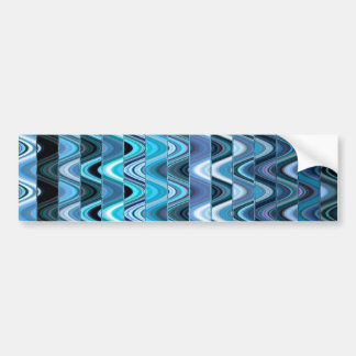 A Modern Abstract Colorful Wave Pattern Bumper Sticker