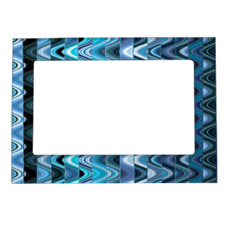 A Modern Abstract Colorful Wave Pattern Magnetic Photo Frames