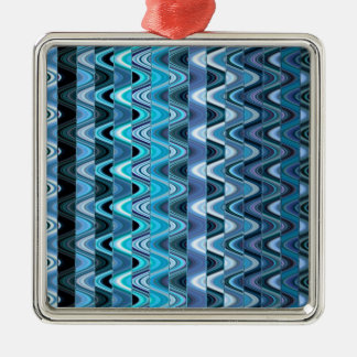 A Modern Abstract Colorful Wave Pattern Metal Ornament