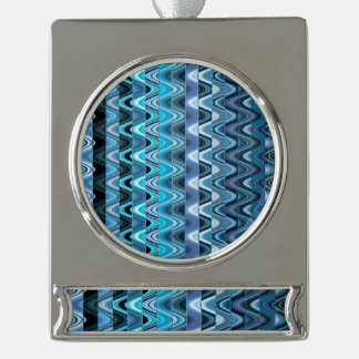 A Modern Abstract Colorful Wave Pattern Silver Plated Banner Ornament
