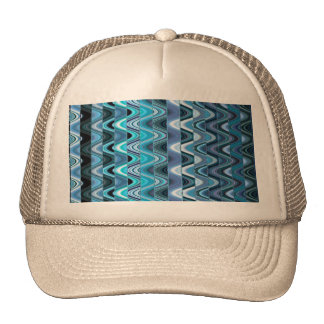 A Modern Abstract Colorful Wave Pattern Trucker Hat