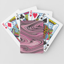 A Modern Abstract Pink Black Wave Pattern Bicycle Playing Cards