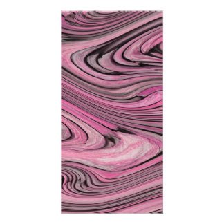 A Modern Abstract Pink Black Wave Pattern Card